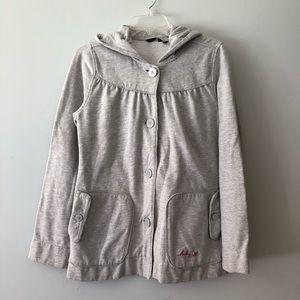 Hurley button up hooded sweatshirt